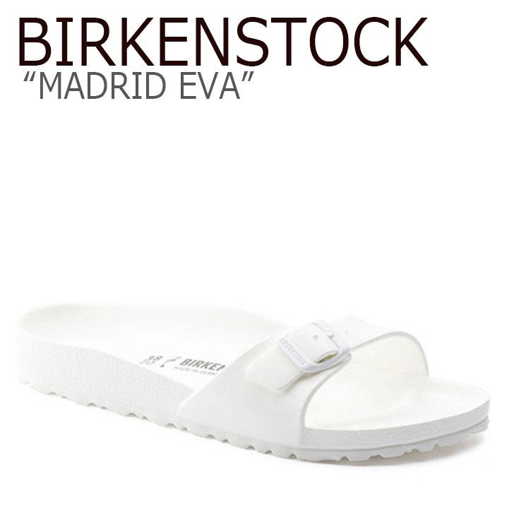 ビルケンシュトック サンダル BIRKENSTOCK レディース MADRID EVA マドリッド エヴァ WHITE ホワイト 128183 シューズ 【中古】未使用品