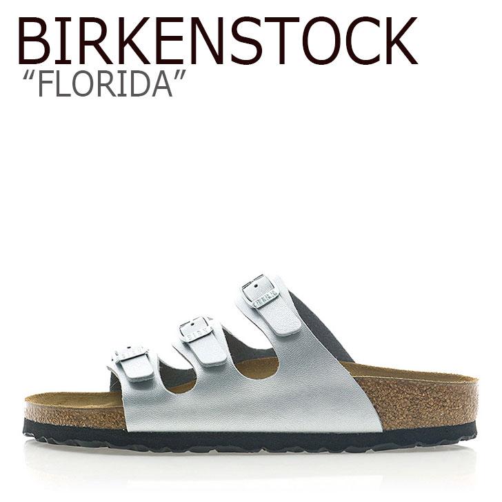 ビルケンシュトック サンダル BIRKENSTOCK レディース FLORIDA フロリダ SILVER シルバー 954383 シューズ 【中古】未使用品