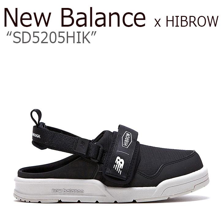 ニューバランス サンダル New Balance x HIBROW コラボ メンズ レディース SD 5205 HIK BLACK ブラック SD5205HIKW シューズ 【中古】未使用品