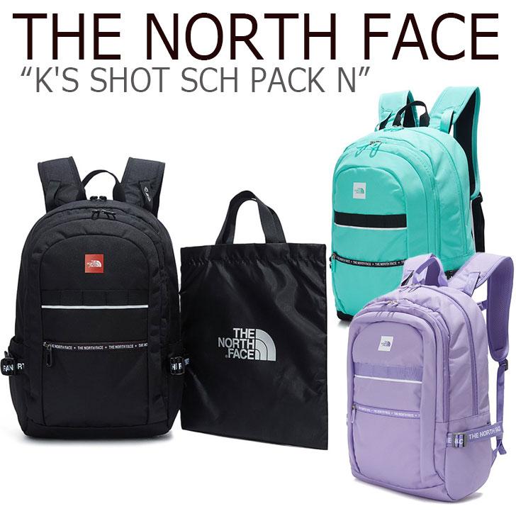 ノースフェイス バックパック THE NORTH FACE キッズ K'S SHOT SCH PACK N ショットスクールパック BLACK MINT LILAC ブラック ミント ライラック NM2DK50S/T/R バッグ 【中古】未使用品
