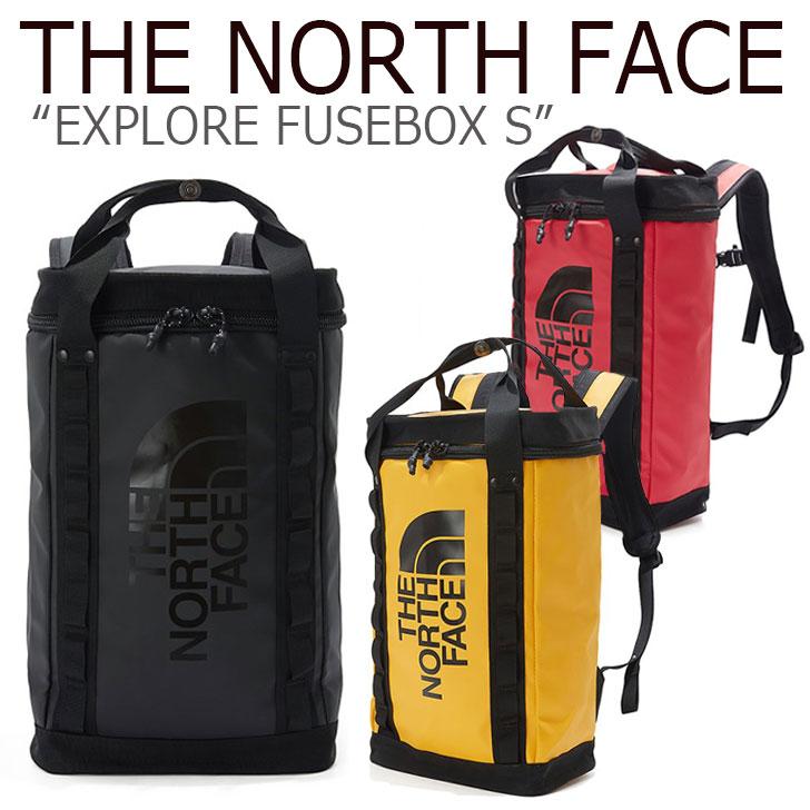 ノースフェイス バックパック THE NORTH FACE メンズ レディース EXPLORE FUSEBOX S エクスプロー ヒューズボックス S BLACK YELLOW RED ブラック イエロー レッド NM2DK64A/B/C バッグ 【中古】未使用品