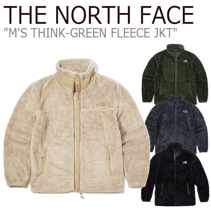 ノースフェイス フリース THE NORTH FACE メンズ M'S THINK-GREEN FLEECE JACKET シンクグリーン フリースジャケット BLACK ブラック CHARCOAL チャコール CAMEL キャメル KHAKI カーキ NJ4FK55A/B/C/D ウェア 【中古】未使用品