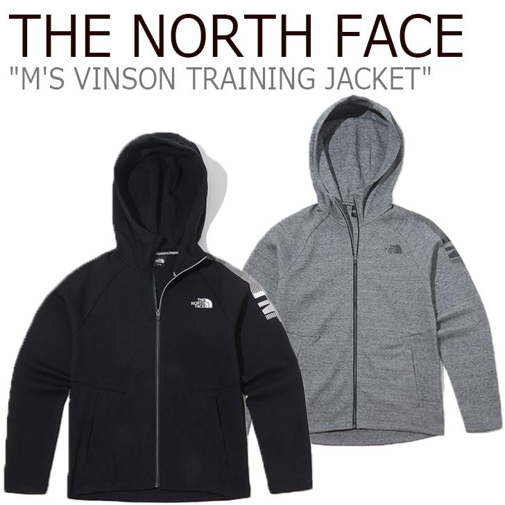 ノースフェイス パーカ THE NORTH FACE メンズ M'S VINSON TRAINING JACKET ビンソン トレーニング ジャケット BLACK ブラック MELANGE GREY グレー NJ5JK51A/B ウェア 【中古】未使用品