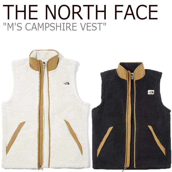 フリース ノースフェイス THE NORTH FACE メンズ M'S CAMPSHIRE VEST キャンプシャイア ベスト BLACK ブラック IVORY アイボリー NV4FK50A/B ウェア 【中古】未使用品