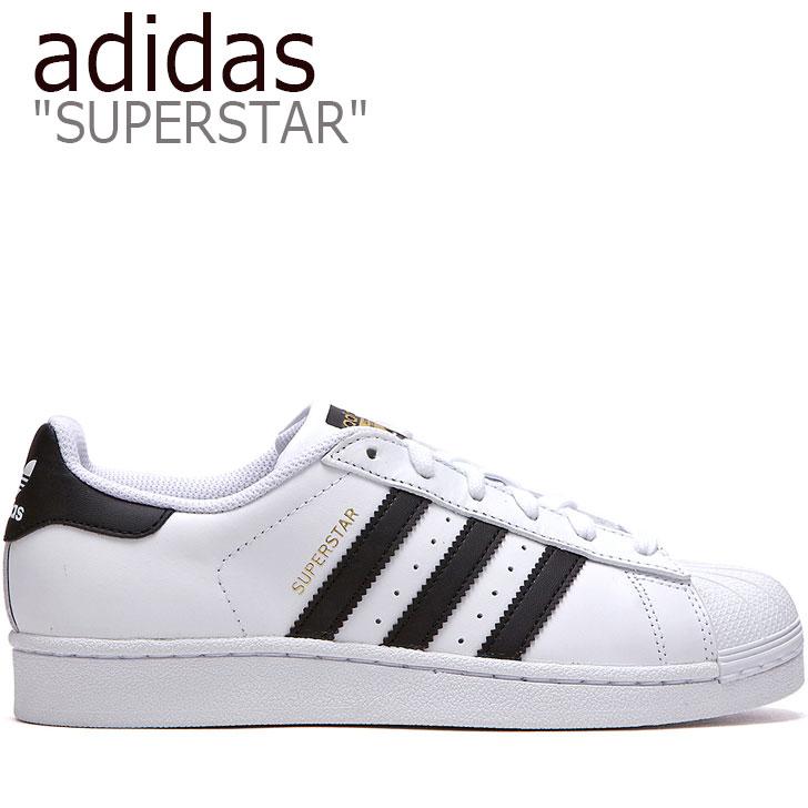 アディダス スーパースター スニーカー adidas メンズ レディース SUPERSTAR スーパースター WHITE ホワイト BLACK ブラック C77124 FLADAA1U04 シューズ 【中古】未使用品