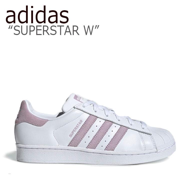 アディダス スーパースター スニーカー adidas レディース SUPERSTAR W スーパースターW WHITE PINK ホワイト ピンク EE7400 シューズ 【中古】未使用品