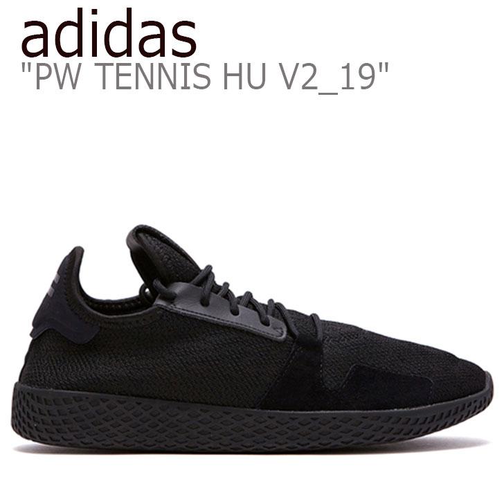 アディダス スニーカー adidas メンズ レディース PW TENNIS HU V2_19 ファレル・ウィリアムス テニス・ヒューマン BLACK ブラック FLAD9A1U18 DB3326 シューズ 【中古】未使用品