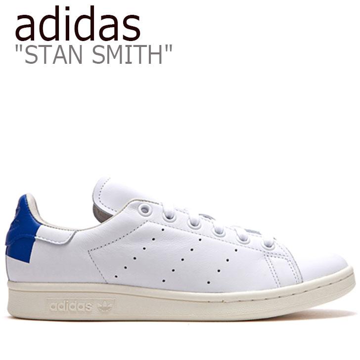 アディダス スタンスミス スニーカー adidas メンズ レディース STAN SMITH スタン スミス WHITE BLUE ホワイト ブルー FLADAA3U19 シューズ 【中古】未使用品