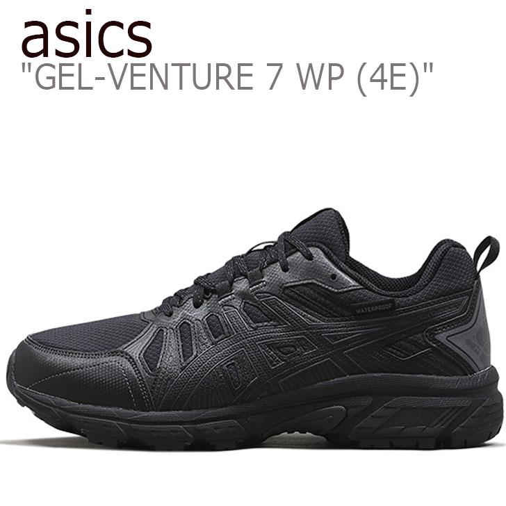 アシックス スニーカー asics メンズ GEL-VENTURE 7 WP 4E ゲルベンチャー7 WP BLACK ブラック 1011A562-002 シューズ