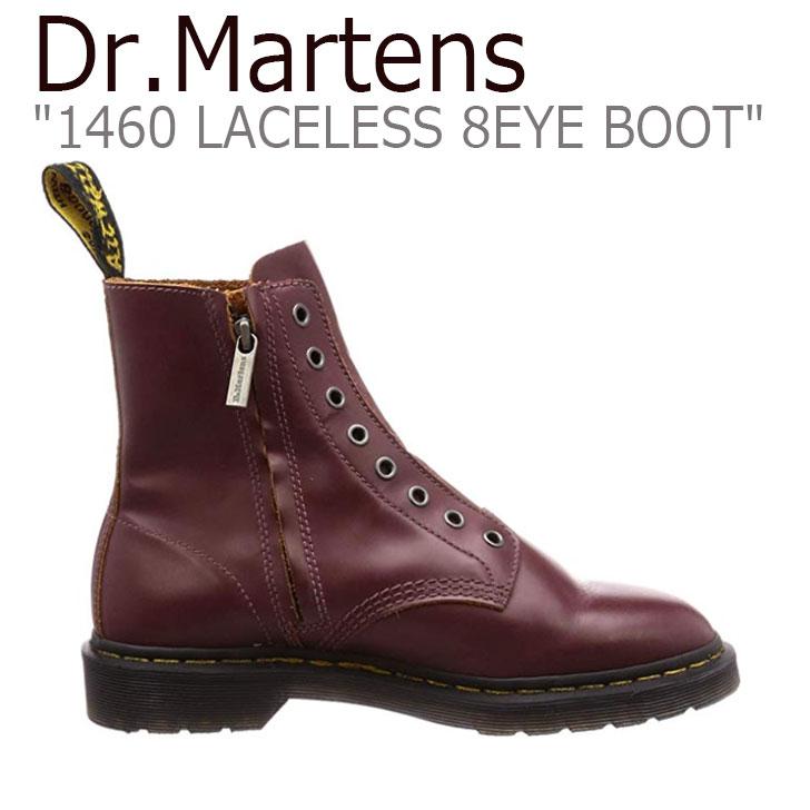 ドクターマーチン スニーカー Dr.Martens メンズ レディース 1460 LACELESS 8EYE BOOT レースレス 8ホール ブーツ OXBLOOD RED オックスブラッド レッド 24555601 シューズ 【中古】未使用品