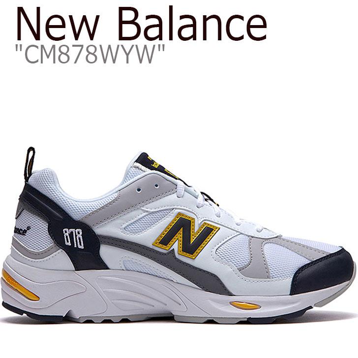 ニューバランス 878 スニーカー NEW BALANCE メンズ レディース new balance 878 ニューバランス878 WHITE ホワイト YELLOW イエロー CM878WYW FLNB9F3U93 シューズ 【中古】未使用品