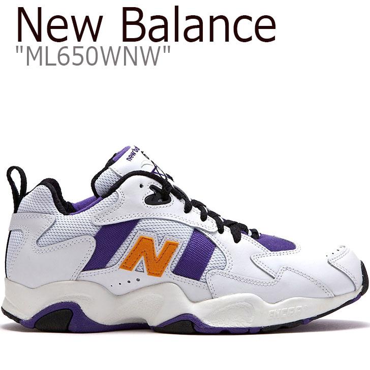 ニューバランス 650 スニーカー NEW BALANCE メンズ レディース new balance 650 ニューバランス650 WHITE ホワイト PURPLE パープル ML650WNW FLNB9S2U61 シューズ 【中古】未使用品