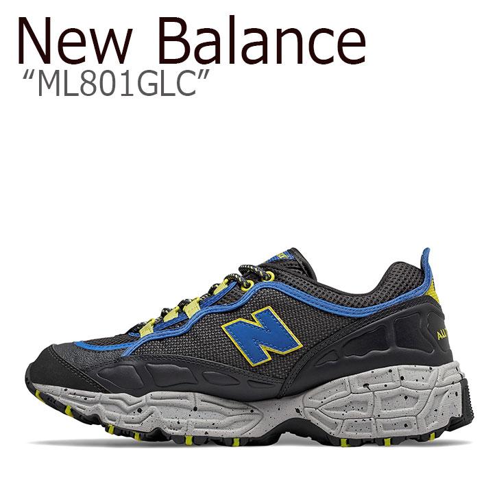 ニューバランス 801 スニーカー New Balance メンズ ML 801 GLC New Balance801 BLUE ブルー ML801GLC シューズ 【中古】未使用品