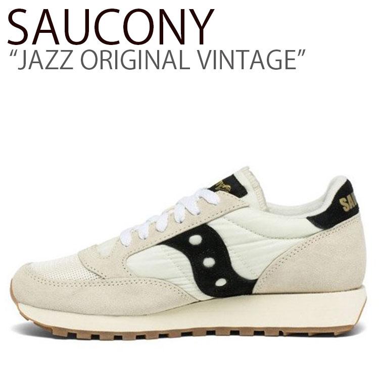 サッカニー スニーカー SAUCONY メンズ レディース JAZZ ORIGINAL VINTAGE ジャズオリジナルヴィンテージ WHITE BLACK ホワイト ブラック S60368-101 シューズ