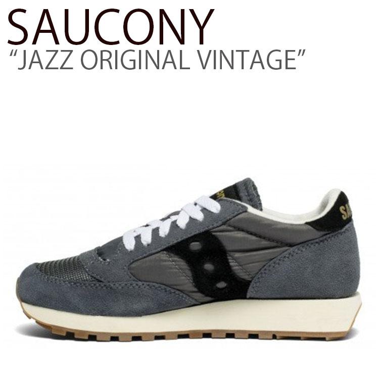 Saucony saucony サッカニージャズ サッカニーオリジナル 超歓迎された サッカニー スニーカー SAUCONY JAZZ ORIGINAL GRAY S60368-97 激安超特価 BLACK VINTAGE ジャズオリジナルヴィンテージ シューズ