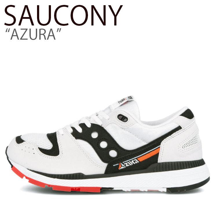 サッカニー スニーカー SAUCONY メンズ AZURA アズーラ WHITE BLACK RED ホワイト ブラック レッド S70437-11 シューズ