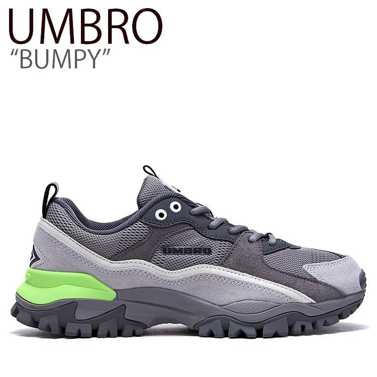 アンブロ スニーカー UMBRO メンズ レディース BUMPY バンピー ダッドシューズ GRAY グレー FLUM9S1U04 シューズ