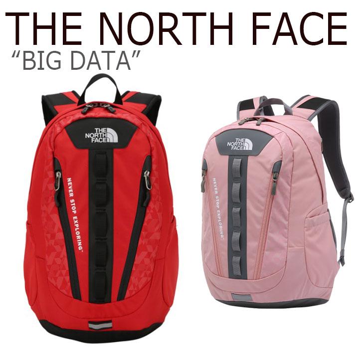 ノースフェイス バックパック THE NORTH FACE メンズ レディース BIG DATA ビックデーター リュック RED LIGHT PINK レッド ライトピンク NM2DJ03B/D バッグ 【中古】未使用品
