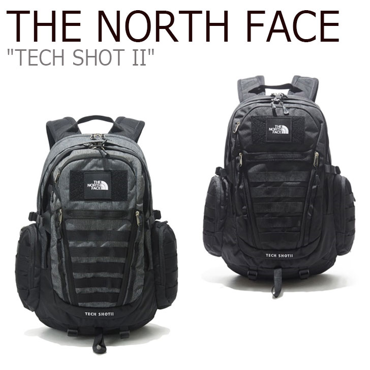 ノースフェイス バックパック THE NORTH FACE メンズ レディース TECH SHOT II テック ショット II DARK GRAY グレー BLACK ブラック NM2DL00A/B バッグ 【中古】未使用品