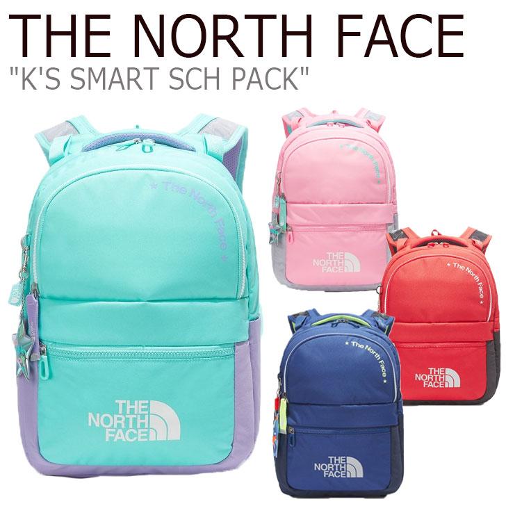 ノースフェイス バックパック THE NORTH FACE メンズ レディース K'S SMART SCH PACK スマート スクールパック NAVY ネイビー MINT ミント PINK ピンク RED レッド NM2DL04R/S/T/U バッグ 【中古】未使用品