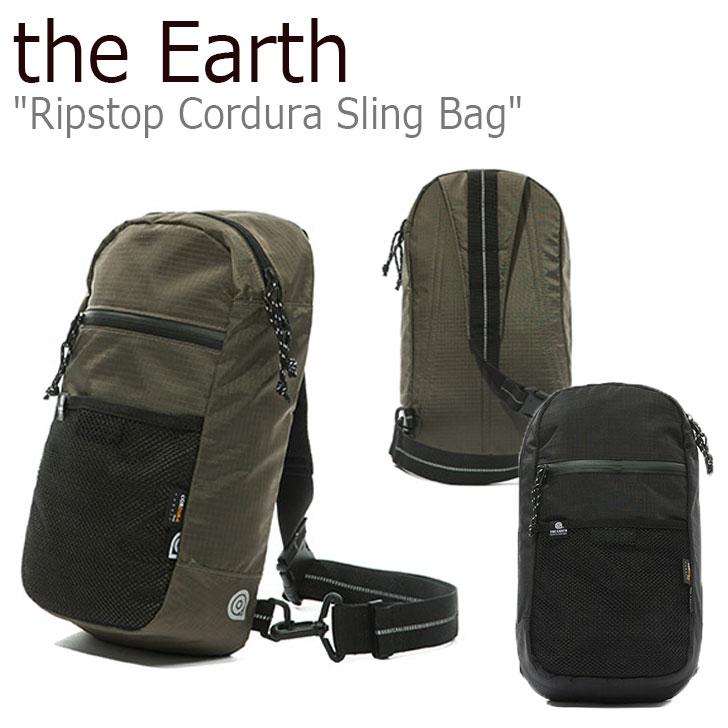 ジアース ボディバッグ the Earth メンズ レディース RIPSTOP CORDURA SLING BAG リップストップ コーデュラ スリングバッグ OLIVE オリーブ BLACK ブラック P00000ZT 300708463 バッグ