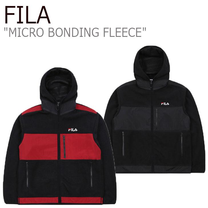 フィラ フリース FILA メンズ MICRO BONDING FLEECE マイクロ ボンディング フリース BLACK ブラック DARK RED ダーク レッド FS2FTB4007X ウェア