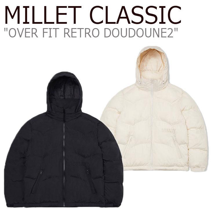 ミレー 中綿ジャケット MILLET CLASSIC メンズ OVER FIT RETRO DOUDOUNE2 オーバーフィット レトロ ドゥドゥン2 BLACK ブラック CREAM クリーム ZHOWD901 ウェア