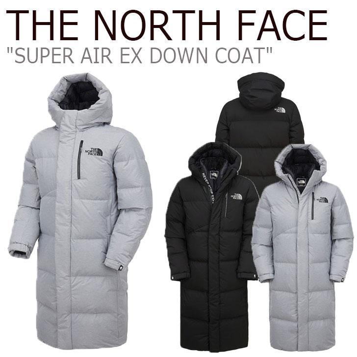 ノースフェイス ダウン THE NORTH FACE メンズ レディース SUPER AIR EX DOWN COAT スーパー エア EXダウンコート BLACK ブラック HEATHER GRAY グレー NC1DK58A/B ウェア 【中古】未使用品