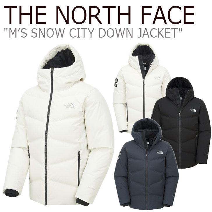 ノースフェイス ダウン THE NORTH FACE メンズ M'S SNOW CITY DOWN JACKET スノー シティ ダウンジャケット BLACK ブラック CHARCOAL チャコール GRAYISH BEIGE ベージュ NN1DK51A/B/C ウェア 【中古】未使用品