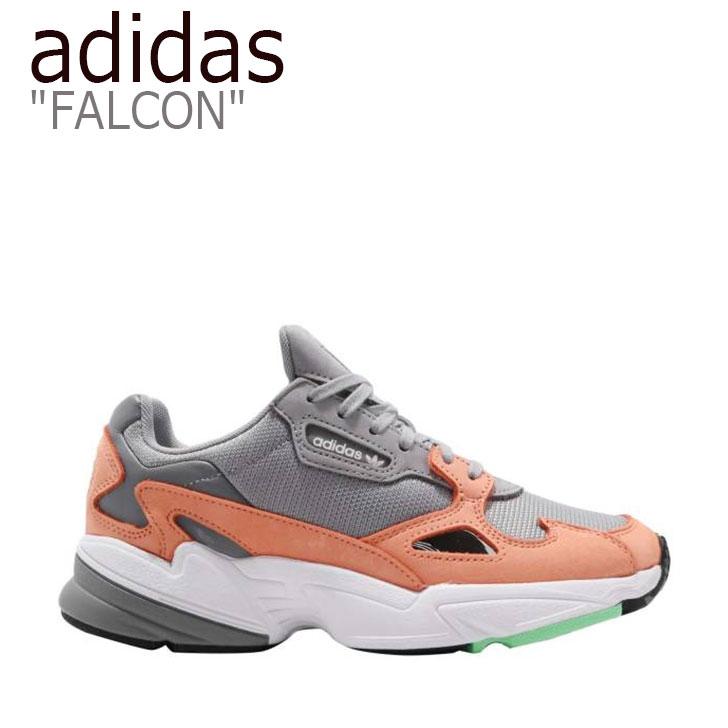 アディダス ファルコン スニーカー adidas メンズ レディース FALCON ファルコン ダッドシューズ GREY ORANGE グレー オレンジ B28130 シューズ 【中古】未使用品