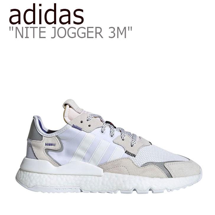アディダス スニーカー adidas メンズ レディース NITE JOGGER 3M ナイトジョガー 3M WHITE ホワイト EE5885 シューズ 【中古】未使用品