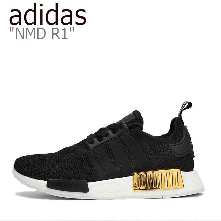 アディダス スニーカー adidas レディース NMD R1 エヌエムディー R1 BLACK ブラック EG6702 シューズ 【中古】未使用品