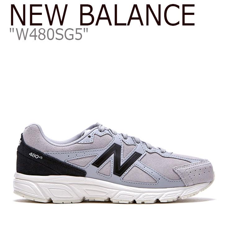ニューバランス 480 スニーカー New Balance メンズ レディース W 480 SG5 New Balance480 GREY グレー W480SG5 FLNB9F4U14 シューズ 【中古】未使用品