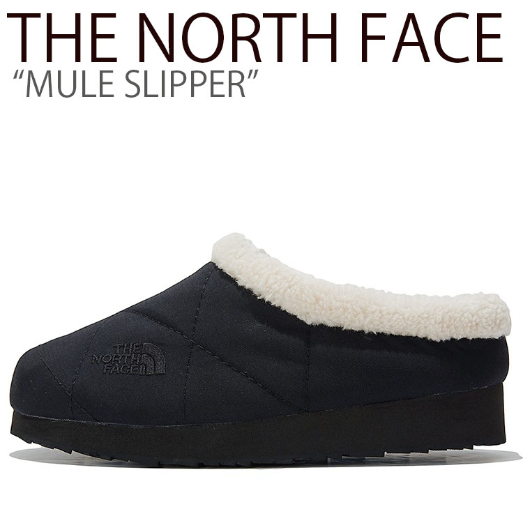 ノースフェイス スリッパ THE NORTH FACE メンズ レディース MULE SLIPPER ミュール スリッパ BLACK ブラック NS93K64AJ シューズ 【中古】未使用品