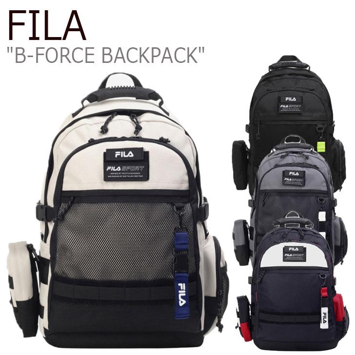 フィラ リュック FILA メンズ レディース B-FORCE BACKPACK B-フォース バックパック BLACK ブラック CREAM クリーム GRAY グレー OFF WHITE オフ ホワイト FS3BPC5002X バッグ