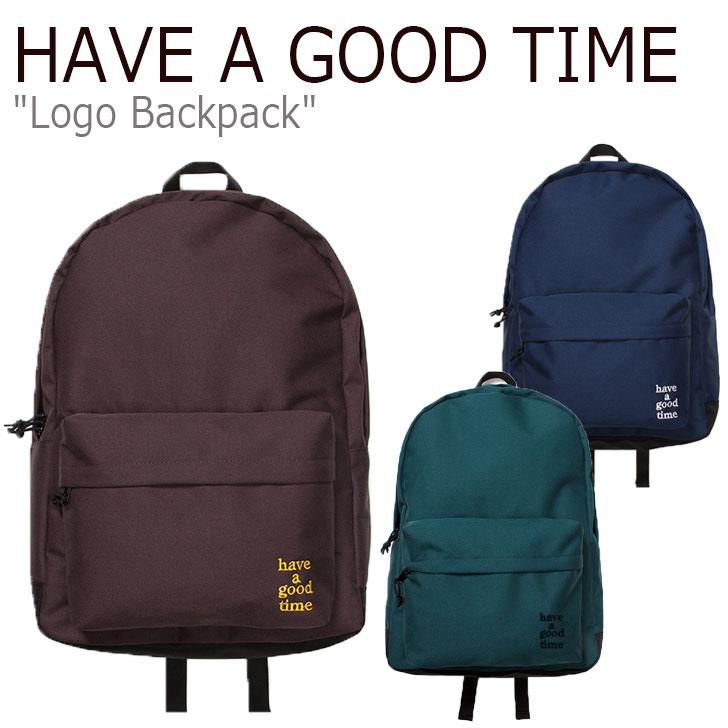 ハブアグットタイム リュック HAVE A GOOD TIME メンズ レディース LOGO BACKPACK ロゴ バックパック CHOCOLATE チョコレート MIDNIGHT BLUE ミッドナイト ブルー SMOKEY GREEN スモーキー グリーン HGT19FXBP0022/3/4 バッグ