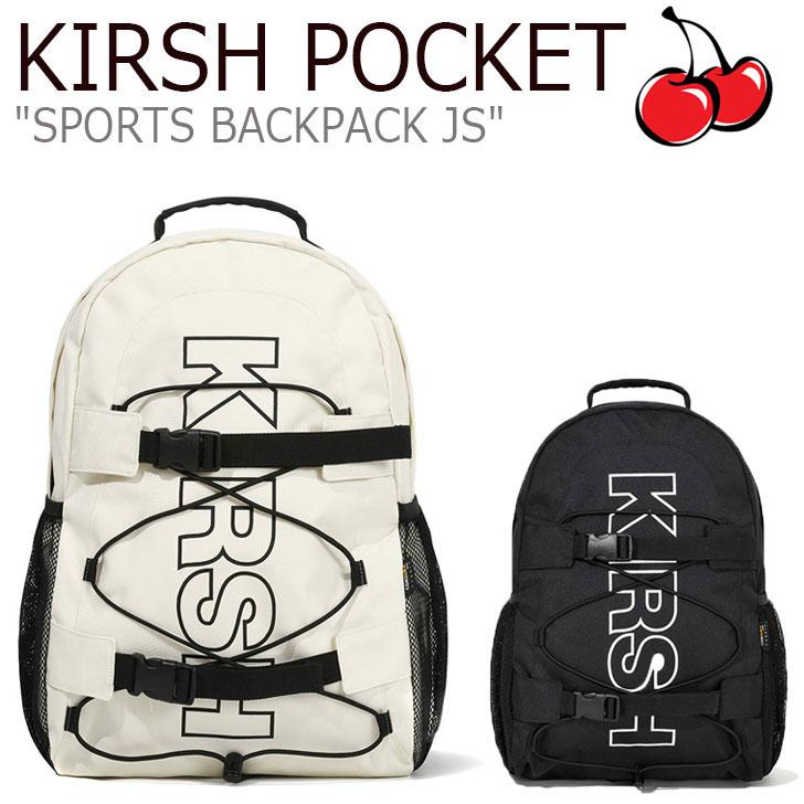 キルシーポケット リュック KIRSH POCKET メンズ レディース SPORTS BACKPACK JS スポーツ バックパック BLACK ブラック IVORY アイボリ JSKP03 CNBA0EL03BK/IV バッグ
