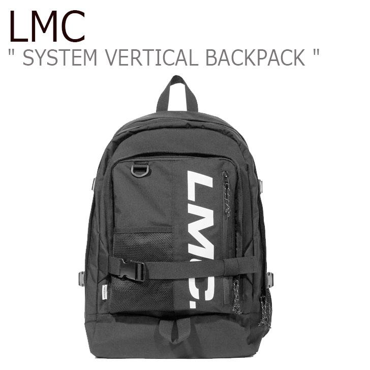 エルエムシー バックパック LMC メンズ レディース SYSTEM VERTICAL BACKPACK システム バーティカル バックパック BLACK ブラック 19FWLSVBBK MIABG09OS1 バッグ