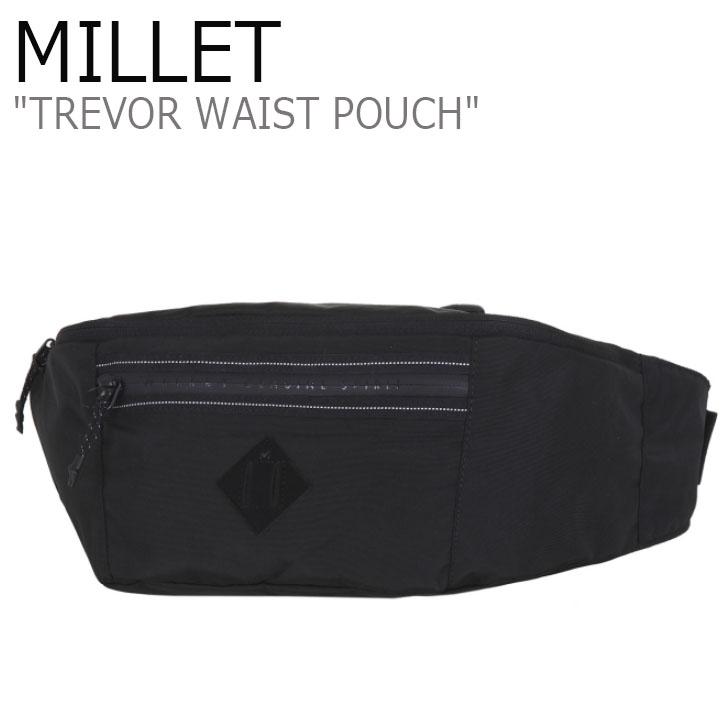 ミレー ウェストポーチ MILLET メンズ レディース TREVOR WAIST POUCH トレバー ヒップサック BLACK ブラック MBOSA903 バッグ