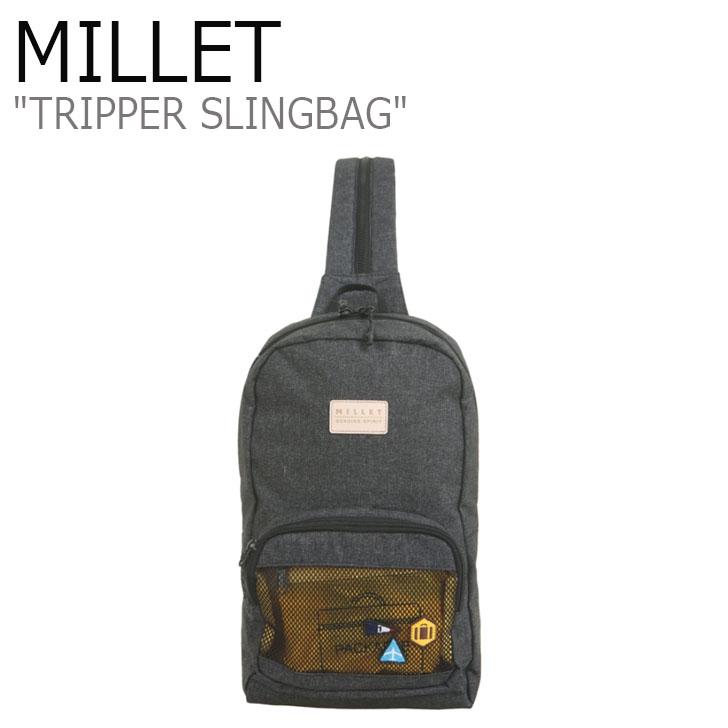 ミレー ボディバッグ MILLET メンズ レディース TRIPPER SLINGBAG トリッパースリングバッグ BLACK ブラック MBOSA908 バッグ