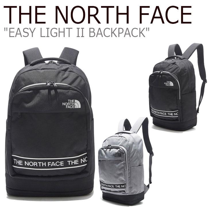 ノースフェイス リュック THE NORTH FACE メンズ レディース EASY LIGHT II BACKPACK イージー ライト II バックパック MELANGE GREY グレー BLACK ブラック NM2DL00J/K バッグ 【中古】未使用品