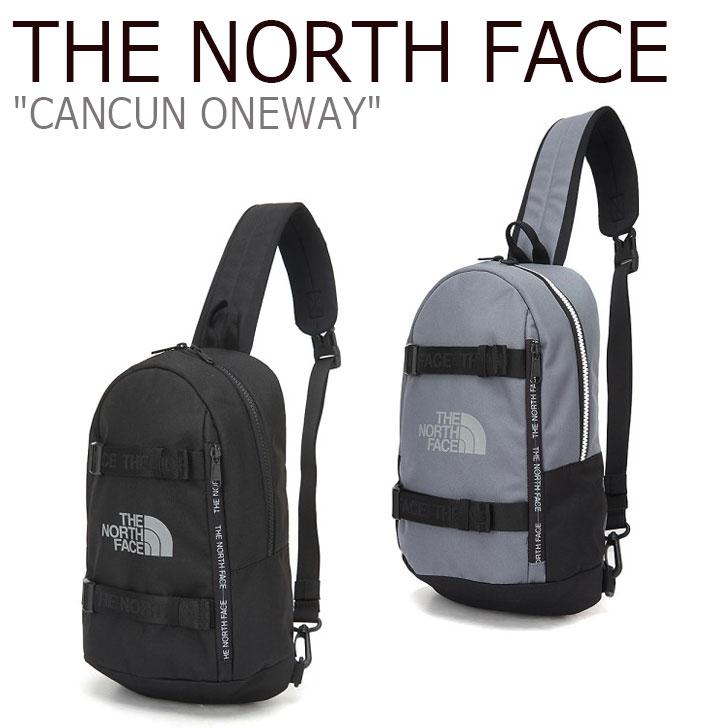 ノースフェイス ボディバッグ THE NORTH FACE メンズ レディース CANCUN ONE-WAY カンクン ワンウェイ BLACK ブラック DARK GRAY ダーク グレー NN2PL03J/K バッグ 【中古】未使用品