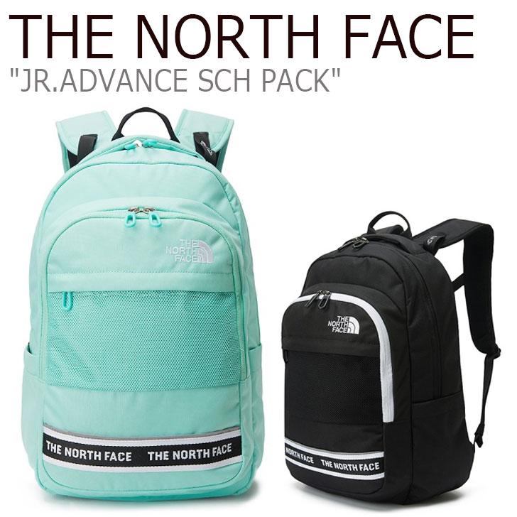 ノースフェイス バックパック THE NORTH FACE メンズ レディース JR.ADVANCE SCH PACK ジュニア アドバンス スクールパック BLACK ブラック ICE GREEN グリーン NM2DL07R/T バッグ 【中古】未使用品