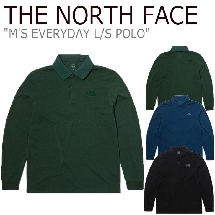 ノースフェイス ポロシャツ THE NORTH FACE メンズ M'S EVERYDAY L/S POLO エブリデー ロングスリーブ ポロ BLACK ブラック BLUE ブルー GREEN グリーン NT7QL50A/B/C ウェア 【中古】未使用品
