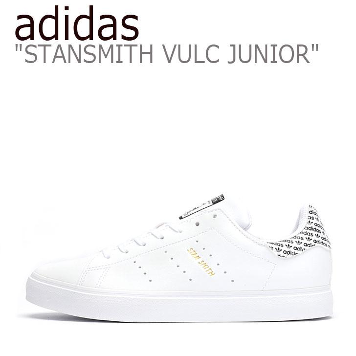 アディダス スタンスミス スニーカー adidas レディース STAN SMITH VULC JUNIOR スタンスミス バルカ ジュニア WHITE ホワイト BLACK ブラック EG7290 シューズ 【中古】未使用品