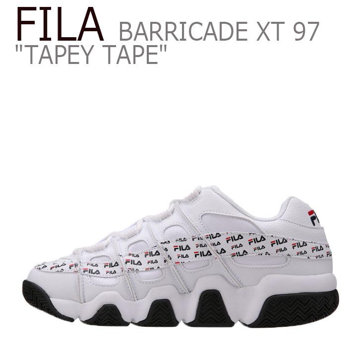 フィラ スニーカー FILA メンズ レディース BARRICADEXT 97 TAPEYTAPE バリケードXT 97 テーピーテープ WHITE ホワイト FS1HTB1201X シューズ