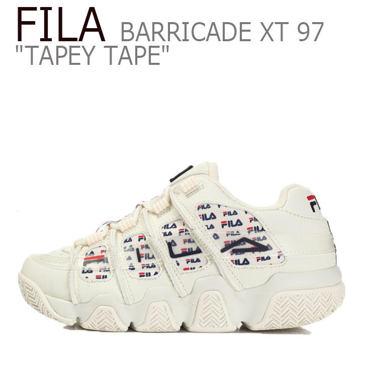 フィラ スニーカー FILA メンズ レディース BARRICADEXT 97 TAPEYTAPE バリケードXT 97 テーピーテープ OFF WHITE オフホワイト FS1HTB3203X シューズ