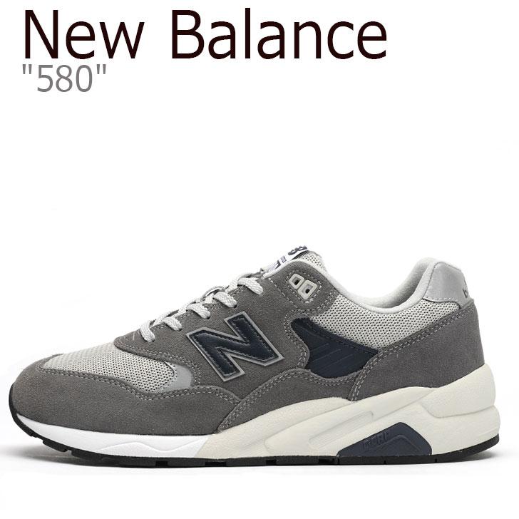 ニューバランス 580 スニーカー New Balance メンズ CMT 580 CA New Balance 580 GRAY グレー CMT580CA シューズ 【中古】未使用品
