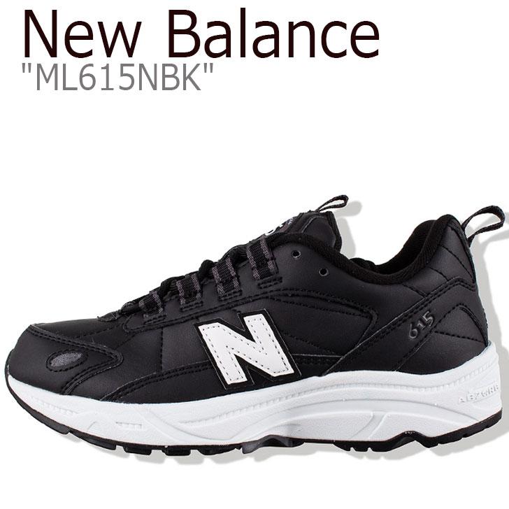 ニューバランス 615 スニーカー New Balance メンズ ML 615 NBK New Balance 615 BLACK ブラック ML615NBK シューズ 【中古】未使用品
