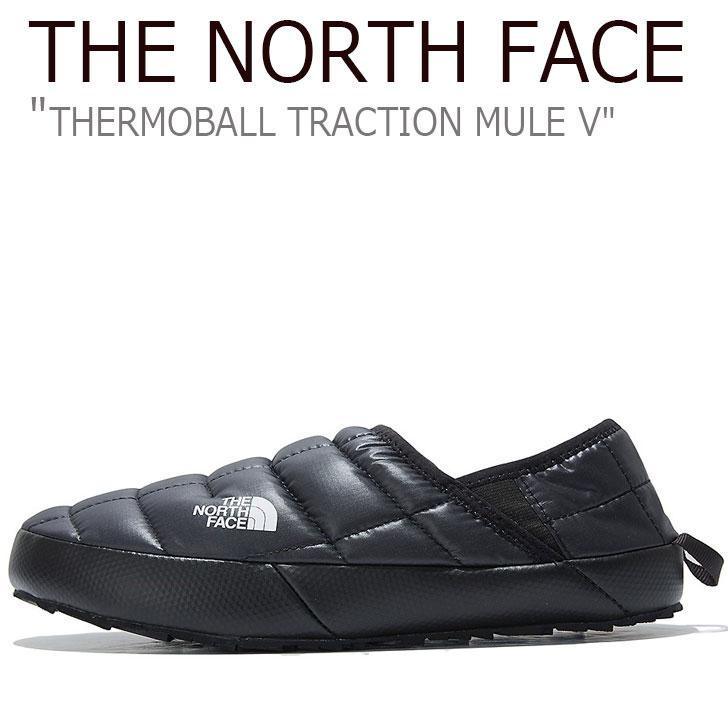 ノースフェイス スニーカー THE NORTH FACE メンズ THERMOBALL TRACTION MULE V サーモボール トラクション ミュール V BLACK ブラック NS93K80A シューズ 【中古】未使用品